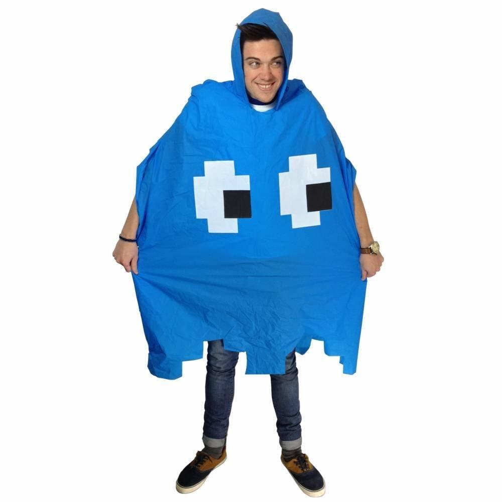 Retro Arcade Poncho Blue