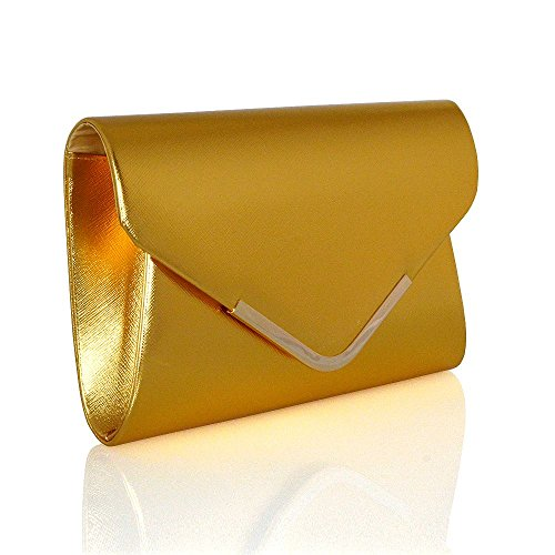 Metallic Glam Purse Clutch Gold Bag Evening Essex Womens Envelope fqOpw87