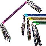 "TukTek Kids First Set of 8 Twirling Batons with Tinsel Streamers 16"" Toy Cheerleader Equipment for Girls & Boys"