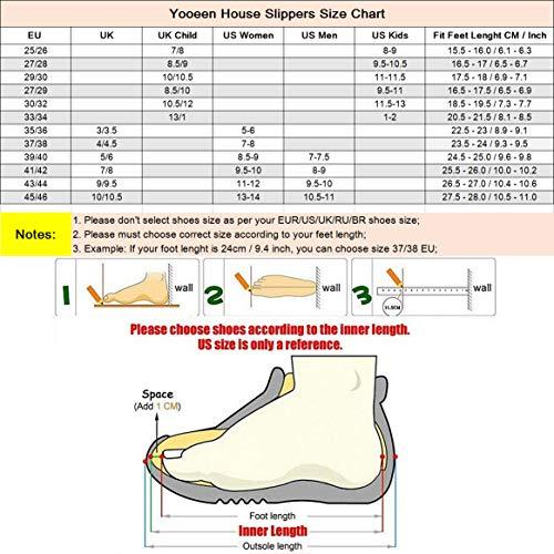 Hommes Chaussures Chaussons Coton Enfant Douce Dessin Yooeen Peluche Pantoufle 1 Maison Chaud Mixte Mignon Hiver À Confort La Animé Noir Mousse Femmes D'intérieur Mémoire 0fxxwpqR