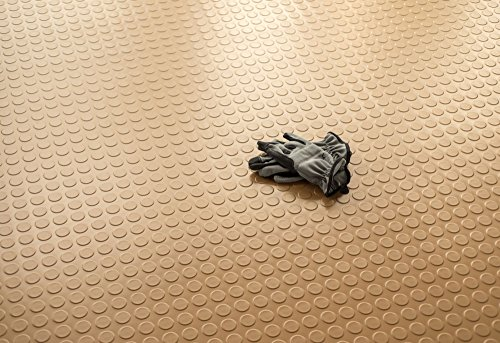 G-floor Garage Floor - BLT G-Floor Coin Garage Floor Mat 75 Mil   7.5' x 17' Sandstone