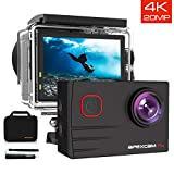 [2019 New]Apexcam EIS 4K 20MP WiFi Action Camera 170° Wide-Angle Ultra HD Sports