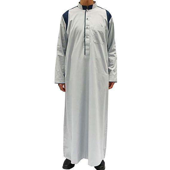 Zhhlinyuan islámico Dubai Robe Camisa de Vestir de Manga ...