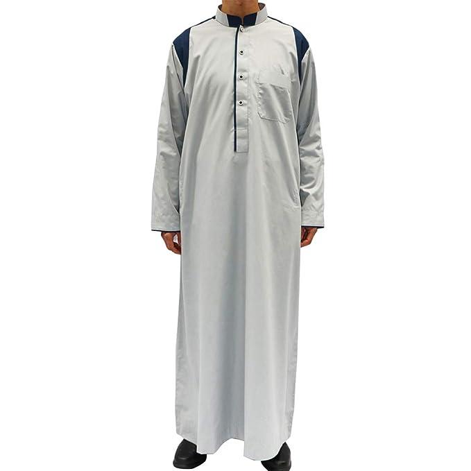 Amazon.com: Zhhlinyuan - Camisa de oración islámica para ...