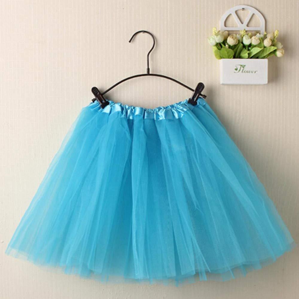 Kalinyer Minifalda de Encaje de Organza con tutú para Mujer - Azul ...