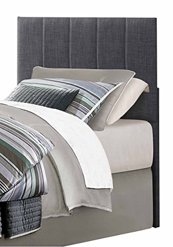Homelegance Potrero Fabric Upholstered Headboard, Twin, Gray