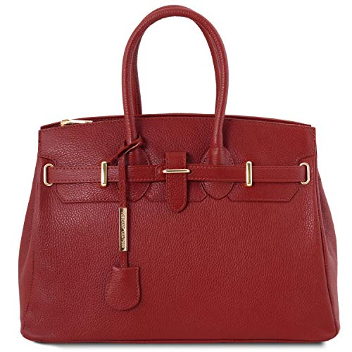 Noir Finitions Femme Rouge Sac à Couleur pour Leather Or Main Tuscany avec TLBag nSPUWFxw