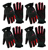 grease monkey gloves extra large - 4 Pair Value Pack Big Time Products Grease Monkey Utility Work Gloves With Synthetic Leather Palm & Shirred Wrist (Extra Large)