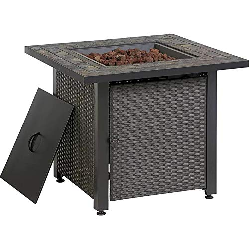 Endless Summer 30-in W 50000-BTU Grey Tabletop Steel Propane Gas Fire Table ()
