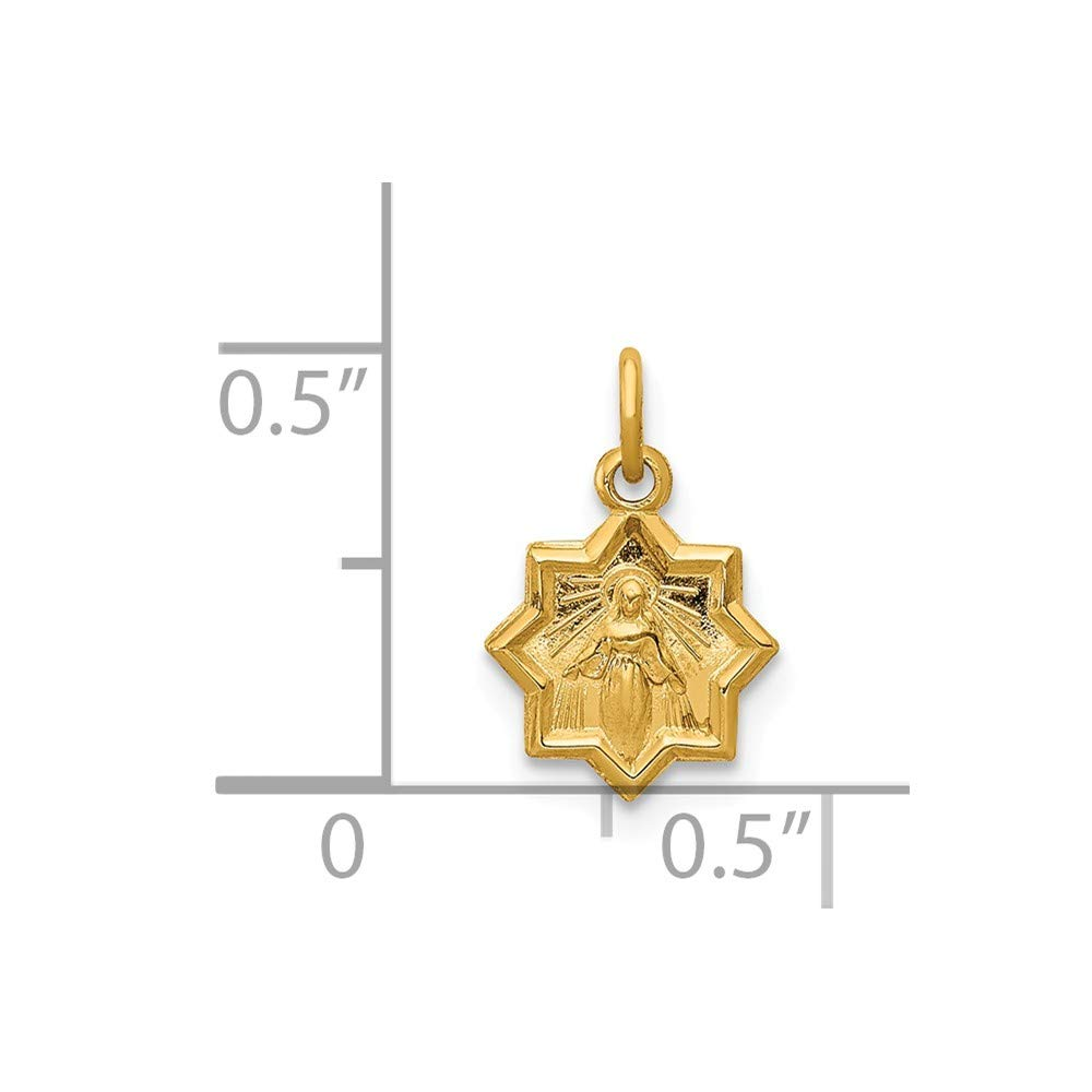 Beautiful Yellow gold 14K 14k Blessed Mary Charm