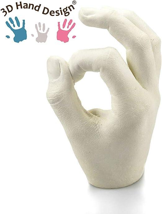 Improntas mano y pie Regalo de D/ía de la Madre Los beb/és y los ni/ños de 7-48 meses 3 moldes Lucky Hands/® Huellas de bebe en 3D