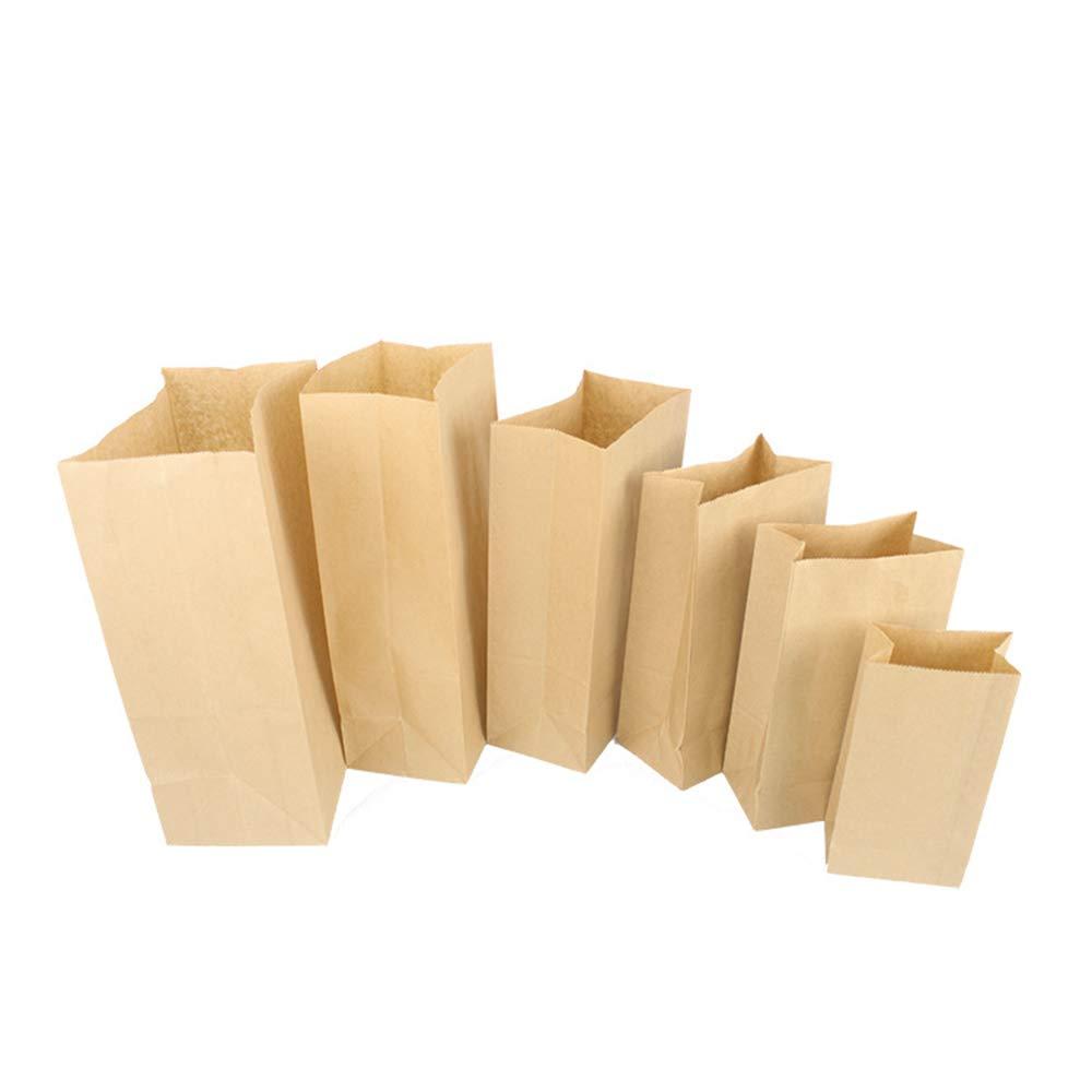 bolsa de papel de embalaje para pan bolsitas para llevar 25 X 21 X 13.5CM No 6 bolsa de regalo de dulces de pan fresco Bolsa de papel kraft marr/ón pan