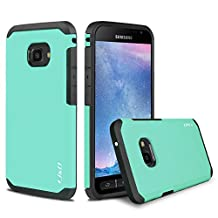 Galaxy Xcover 4 Case, J&D [ArmorBox] [Dual Layer] Hybrid Shock Proof Protective Rugged Case for Samsung Galaxy Xcover 4 - Mint