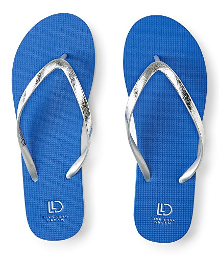 Aeropostale Lld Crackled Solid Flip-Flop 8 Blue 483 (Clothing Aeropostale)