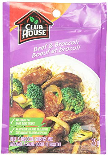 Club House Beef & Broccoli Stir Fry Mix, 35g/1.2oz., {Imported from Canada}