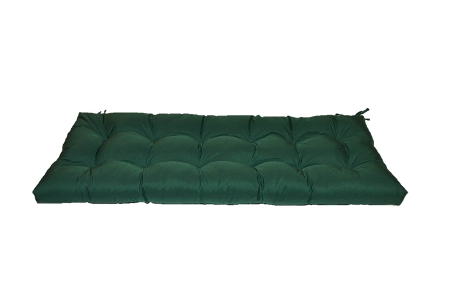 Resort Spa Home Decor Hunter Forest Green Tufted Cushion for Bench, Swing, or Glider – Choose Select Size 55 X 18