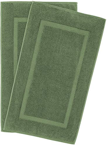 900 GSM Machine Washable 20×34 Inches 2-Pack Banded Bath Mats, Luxury Hotel and Spa Quality, 100% Ring Spun Genuine Cotton, Maximum Softness and Absorbency by United Home Textile, Sage Green
