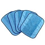 5-Pack Wet Microfiber Mopping Cloths, Washable & Reusable Mop Pads Fits iRobot Braava 380 380t 320 321 Mint 4200 4205 5200 5200C