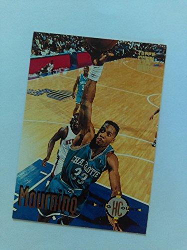 Alonzo Mourning (Basketball Card) 1993-94 Topps Stadium Club #176 - Georgetown Hoyas / Charlotte -