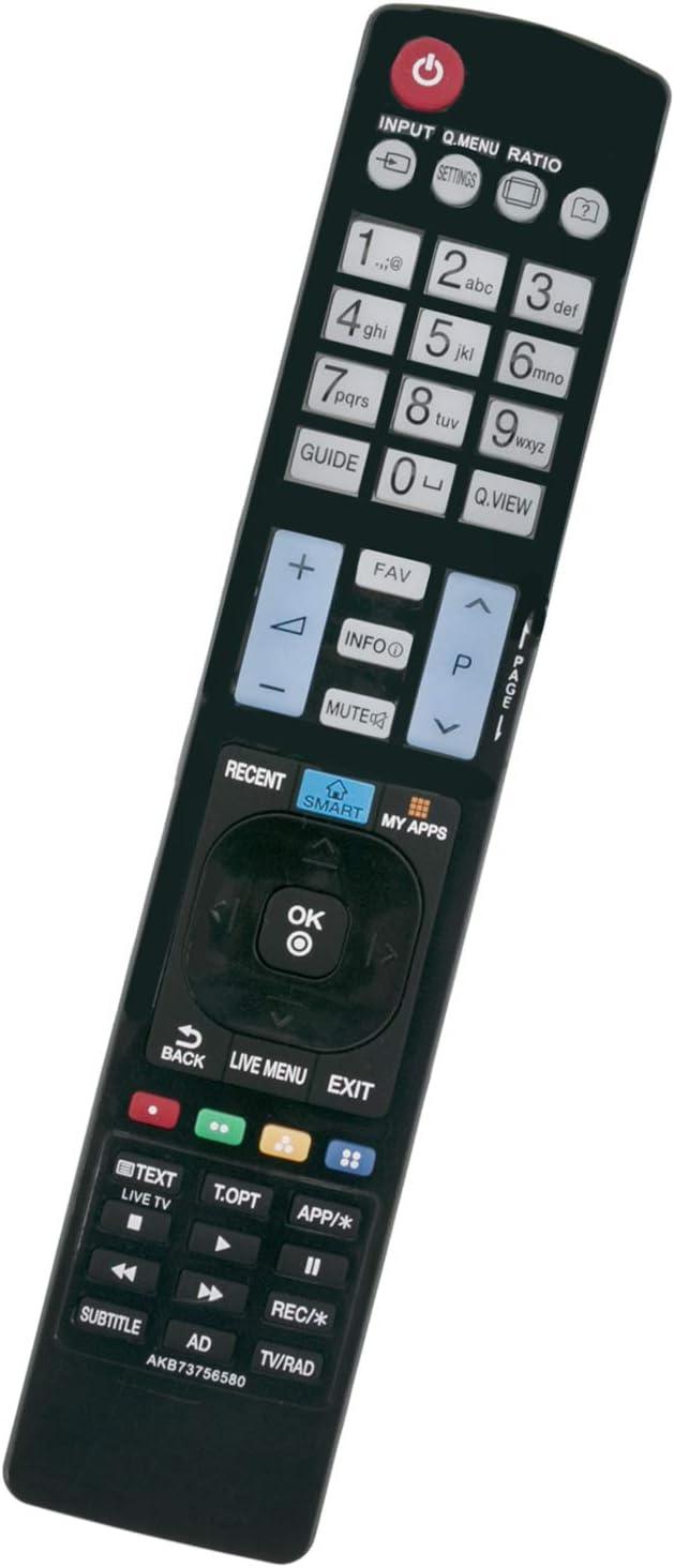 ALLIMITY AKB73756580 Control Remoto reemplazado por LG LED LCD TV 47LB630V 49LF630V 55LB630V 32LF630V 49UF6909 55LF6329 42LB630V 43LF6319 42LB630V 32LF6319 49LF6319 55LF6309 40LF6319: Amazon.es: Electrónica