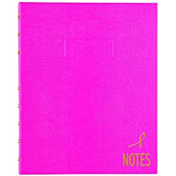 """BLUELINE Pink Ribbon NotePro Notebook, Bright Pink, 9.25"""" x 7.25"""", 150 Pages (A7150.PNK4)"""