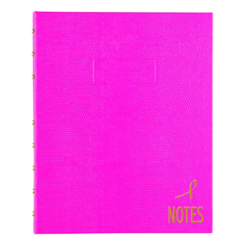 Notepro Notebook - Blueline Pink Ribbon NotePro Notebook, Bright Pink, 9.25 x 7.25 inches, 150 Pages (A7150.PNK4)