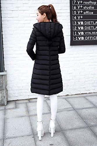 Chemine Manche Femme Outdoor Uni Manteau Casual Tous avec Jours Noir Transition Doudoune Long Parka Mince Fermeture Warm breal clair Les Capuchon Hiver Stepp Longues Manches gdqwFrd