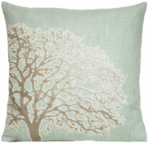 (Tree Design Decorative Pillow Case Duck Egg Ricmond Park Cushion Cover Osborne and Little Fabric 14