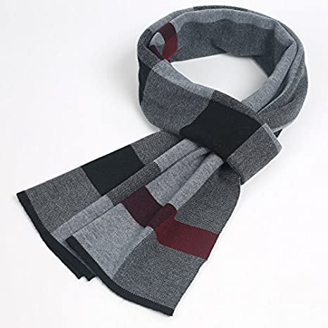 20910f24adf77 SED Scarf-Men's Scarf Scarf Plaid All-Match Thickened in Autumn and Winter  Imitation Cashmere Scarf Female Autumn and Winter Korean Students Knitted  Shawl ...