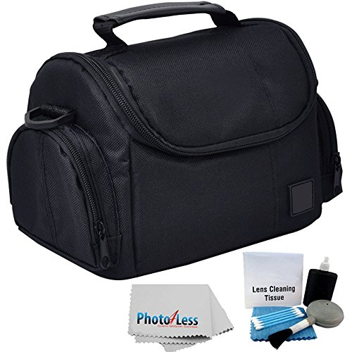 Deluxe Soft Padded Medium Bag For Digital SLR Camera Lens & Video accessories Case for NIKON D3000 D3100 D3200 D3300 D5100 D5200 D5300 D7000 D7100 + CAMERA AND LENS CLEANING KIT by PHOTO4LESS