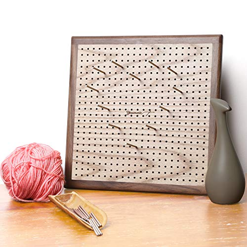 g Mats for Knitting with Grids - Handcrafted Wood Crochet Blocking Board with 484 Grid Holes and 20 Stainless Steel Pins ()