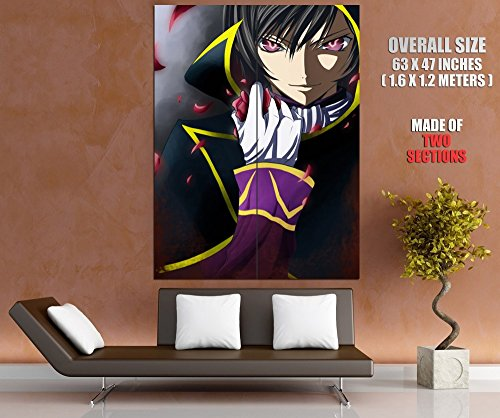 Code Geass Lelouch Anime Manga Art Huge Giant Wall Print Poster