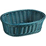 Kesper 19824 Fruit/Bread oval Basket, 11.61'' x 9.06'' x 3.74'', Petrol