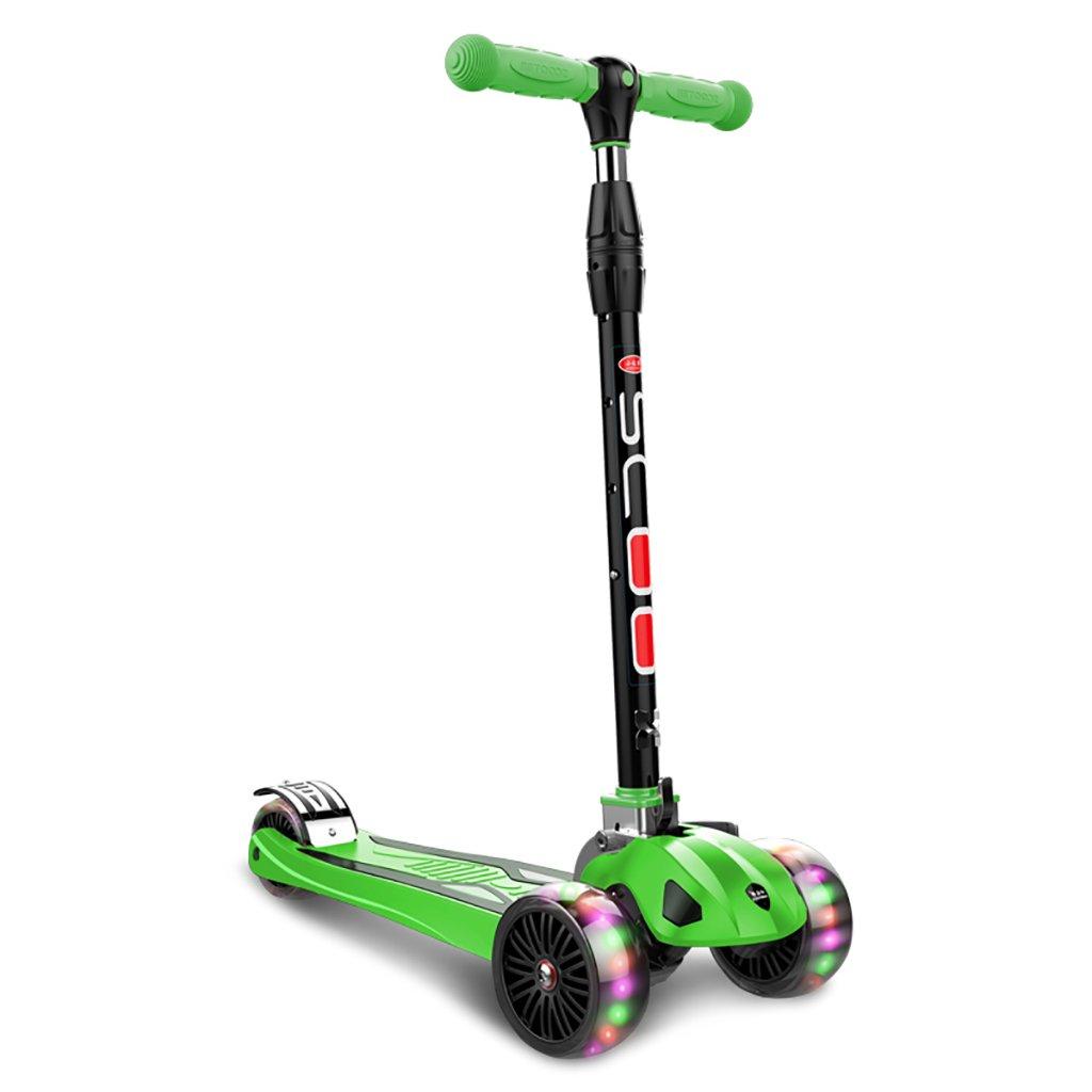 【超歓迎された】 YONGLIANG 子供のフラッシュスクーター子供の2歳のペダルスケーターの赤ちゃんのおもちゃ三輪車スクーター (色 B07BPVCY4Z : 青) Green B07BPVCY4Z : Green Green, Twice:01e46357 --- a0267596.xsph.ru