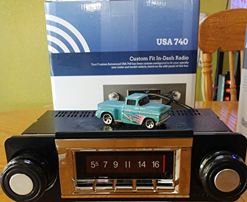 1967-1972 Chevrolet Truck 300 watt USA-740 AM FM Car Stereo/Radio with built-in Bluetooth, AUX Inputs, Color Change LCD Digital Display 1970 Chevrolet Chevy