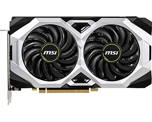 MSI GAMING GeForce RTX 2070 8GB GDRR6 256-bit HDMI/DP/USB Ray Tracing  Turing Architecture HDCP Graphics Card (RTX 2070 VENTUS 8G), 1620 Mhz