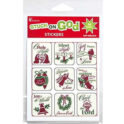 (Stuck On God Christmas Designs Stickers (216 Stickers) Bulk)