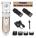 Petology Professional Automatic Rechargeable Pet Hair Trimmer With Extra Battery For Dog