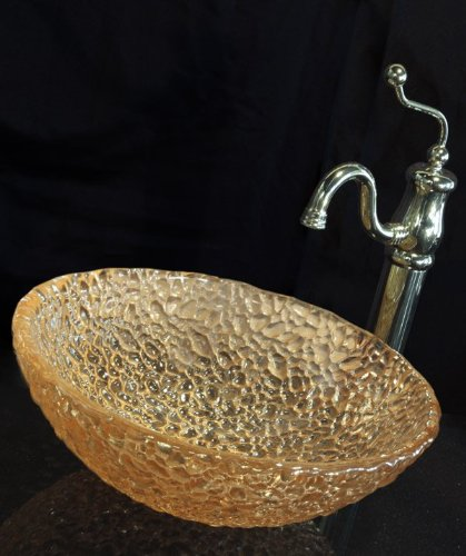 JSG Oceana 005-303-100 Pebble Vessel, 16', Champagne Gold