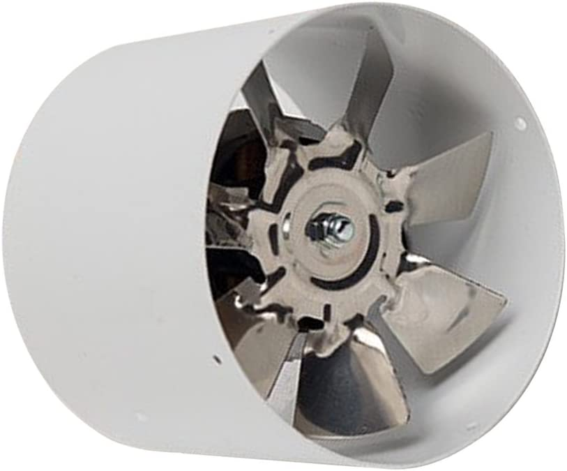 220V Ventilador de Pared para Baño Cocina de Metal Duradera, 200 m³ / H, 4 Pulgadas