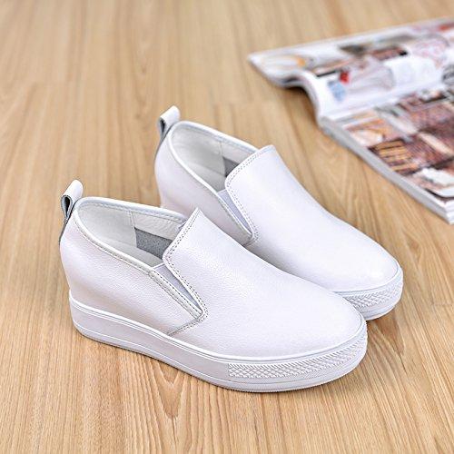 blanco models plana color all primavera Female white Mayor eight zapatos inferior nine espesor zapatos ocio zapatos el match Thirty nuevo Thirty de Kevin zapatos white gunaindmx ZqExw01Btt