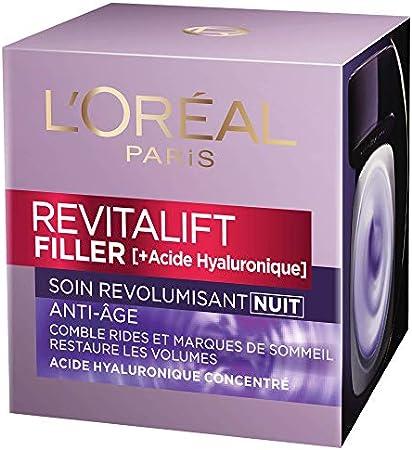 L'Oréal Paris Soin anti-âge Revitalift Filler revolumisant nuit - le pot de 50ml