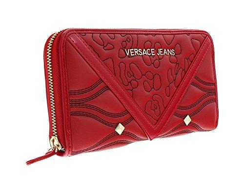 Versace EE3VOBPK2 E500 Red Multifunction Wallet