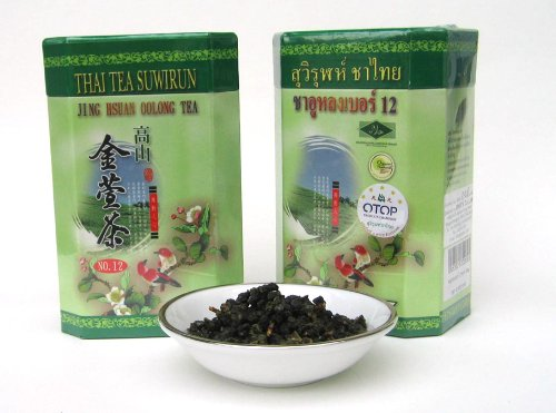Thai Tea Suwirun ,JING SHUAN OOLONG TEA (No.12),The best fragrance for Oolong tea, mellow tasted. (600g.) by SMILE LANNA SHOP