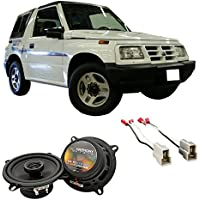 Fits Geo Tracker 1992-1997 Rear Side Panel Factory Replacement Harmony HA-R5 Speakers