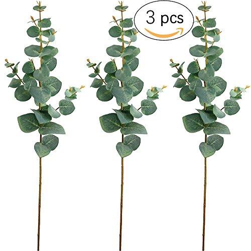 Supla 3 Pcs Artificial Silver Dollar Eucalyptus Spray in Green 26