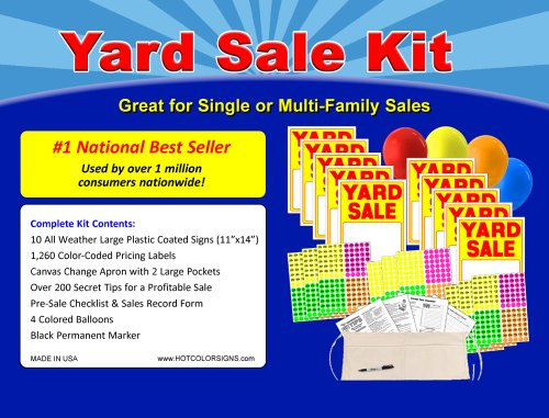Yard Sale Sign Kit With Pricing Stickers And