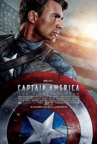 (CAPTAIN AMERICA FIRST AVENGER (2011) Authentic Original Movie Poster - Double-Sided - 27x40 - Chris Evans - Hugo Weaving - Tommy Lee Jones - Hyley Atwell)