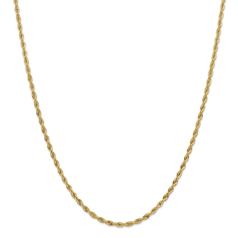 14kt Yellow Gold 3.0mm Semi-Solid Rope Chain; 24 inch