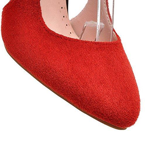AllhqFashion Mujer Hebilla Sintético Puntera Redonda Puntera Cerrada Tacón Alto Colores Surtidos De salón Rojo